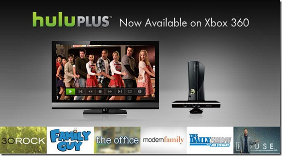 Hulu Plus is now available on Xbox 360