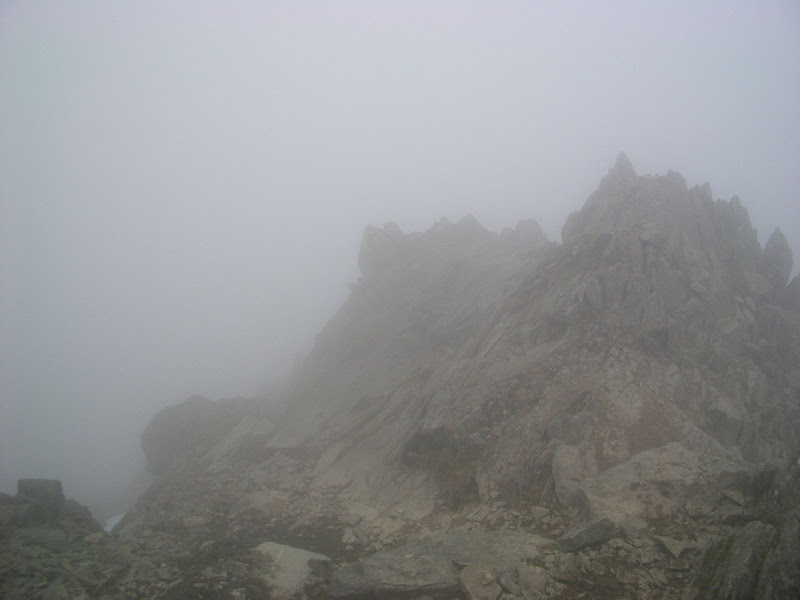 Looking down Swirral Edge (or what we can see of it!)