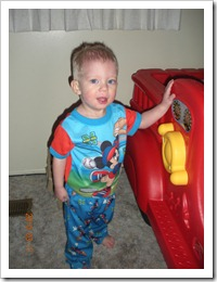 Wyatt with his mickey jammies 004
