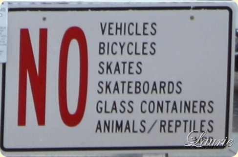 no bikes