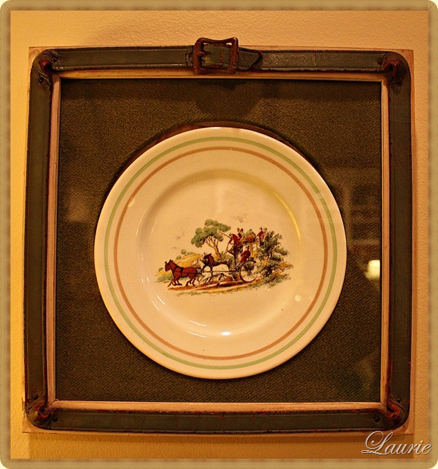 framed plate