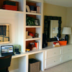Bedroom wall to wall desk & dresser unit - right side