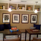 Basement game area. Bench seat and storage cubbies. Wainscoting along the wall was also laid out to work with bench seat.