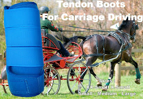 Carriage Driving Coloured Protective Tendon Boots Royal Blue