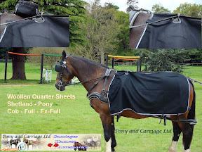 New Carriage Driving Harness Woollen Quarter Sheet Rug