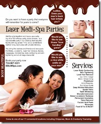 laser medi spa parties