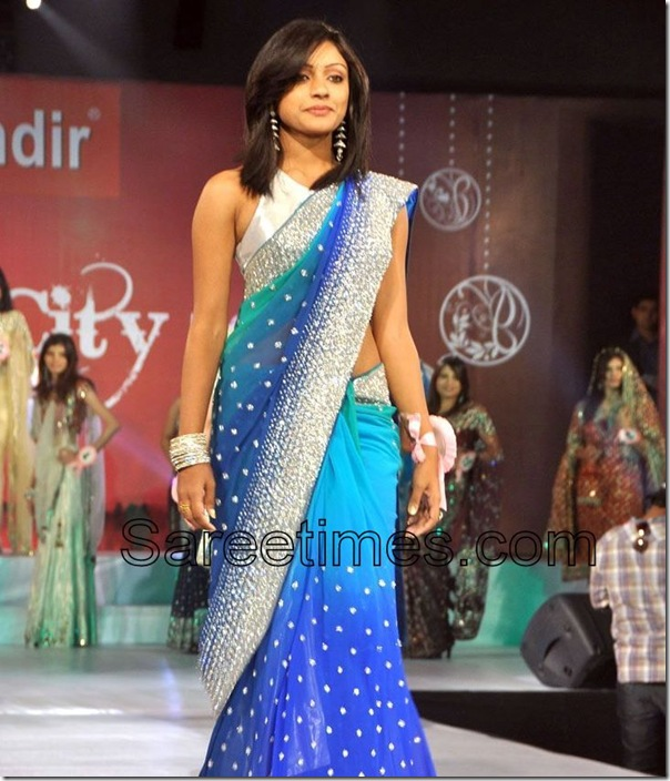 Blue_Embellished_Silk_Saree