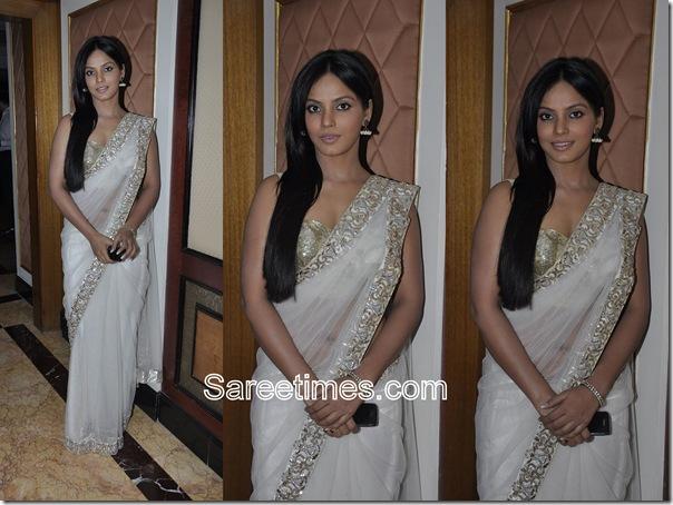 Neeta_Chandra_White_Designer_Saree