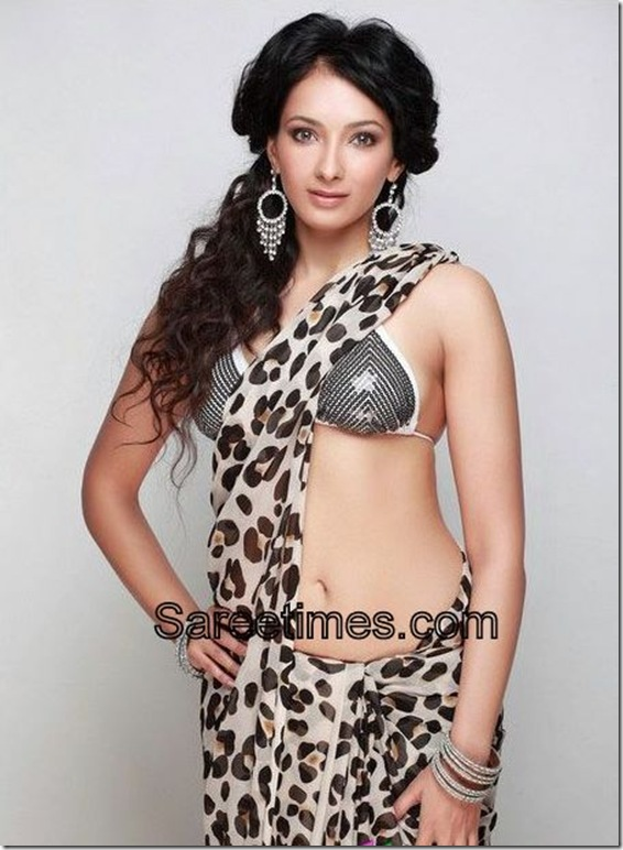 Archana_Singh_Black_White_Designer_Saree