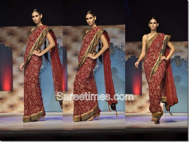 Umair_Zafar_Maroon_Designer_Saree