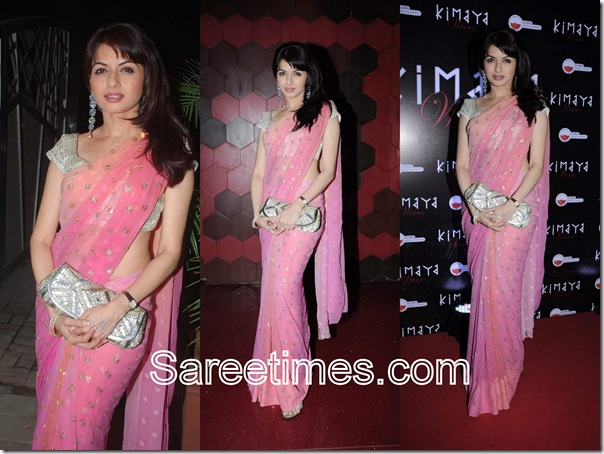 Bhagya_Shree_Pink_Designer_Saree