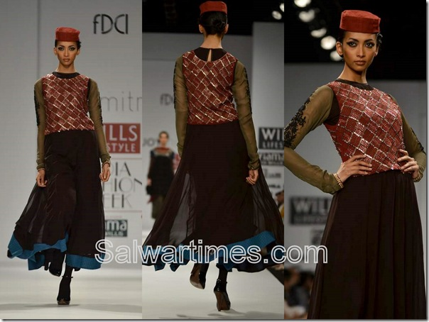 Joy_Mitra_Black_Maroon_Designer_Salwar