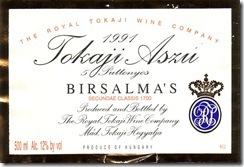 Royal Tokaji Wine Co Tokaji Aszú 5 Puttonyos Birszalmás 1990