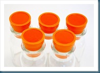orange top spice jars