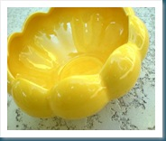 Yellow Floraline Bowl Planter
