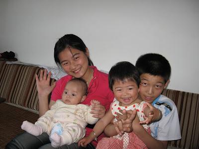 王令仪和弟弟刘可为,姐姐梦婷,哥哥腾龙