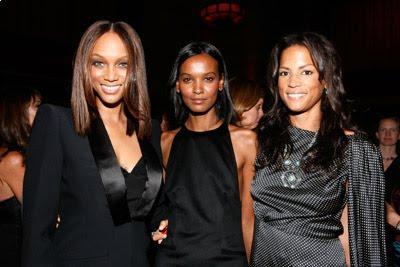 Tyra Banks, Liya Kebede and Veronica Webb