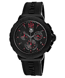 TAG Heuer Men's Formula One Chronograph Black Dial Black Rubber TAG-CAU111A.FT6024 Watch