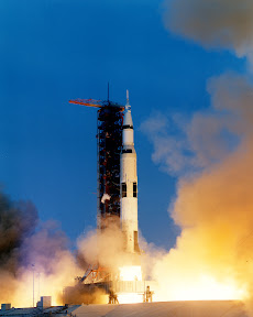 Apollo 13 lifting off