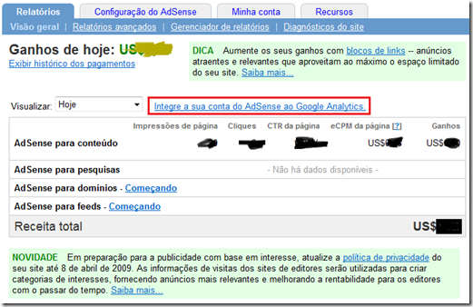 Google-analytics-adsense-blogger
