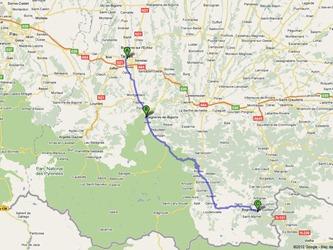 Route through Hauté-Pyrénées