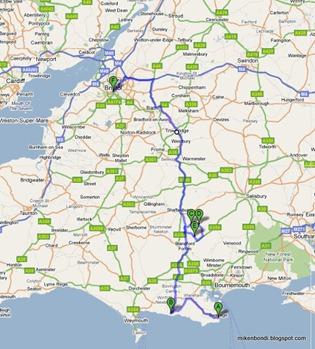 Swanage - Lulworth - Ashmore - Tollard Royal - Tarrant Gunville - Bristol