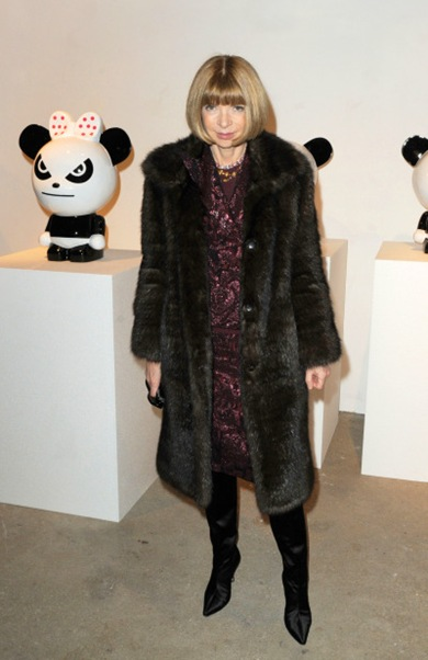 "Anna Wintour attends the Vernissage of ""Hi Panda"" by Jiji exhibition at the Palais de Tokyo in Paris."