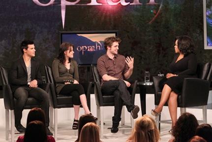 Robert, Taylor y Kristen en Oprah Winfrey