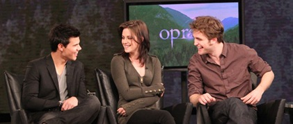 Robert Pattinson en Oprah Winfrey