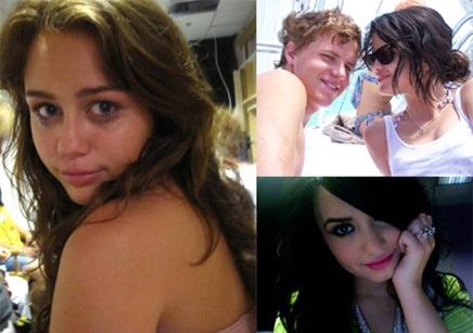 Miley-Demi-Selena-twitter-pics