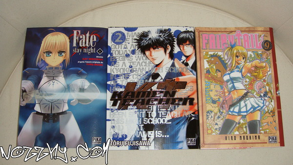 ACHAT : Fate Stay Night 1, Kamen Teacher 2 et Fairytail 9
