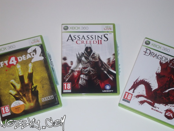 ACHAT : Left 4 Dead 2 + Dragon Age: Origins & RÉCEPTION : Assassin's Creed 2: White Edition (le tout sur Xbox 360)