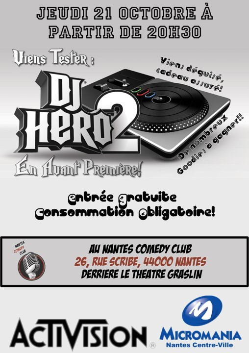 VIDÉO : Soirée avant première DJ Hero 2