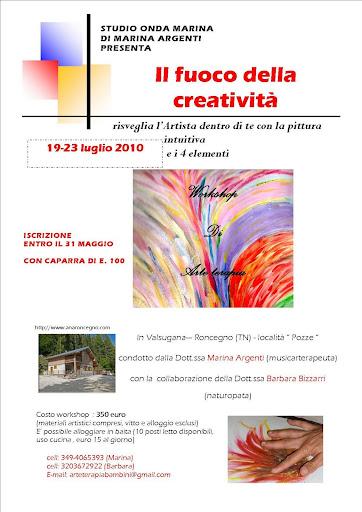workshop: il fuoco della creatività