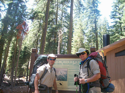 Two Ready hikers at the Mount Shasta Clear Creek Trailhead
