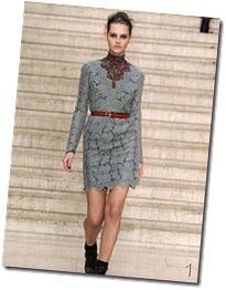 cloudy grey lace dress