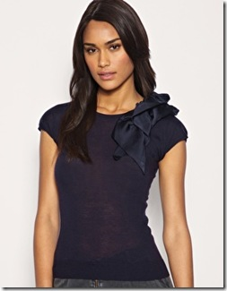 Mango Satin Bow Shoulder4