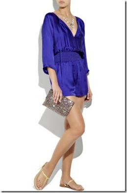 anya hindmarch valorie glitter clutch halston jumpsuit