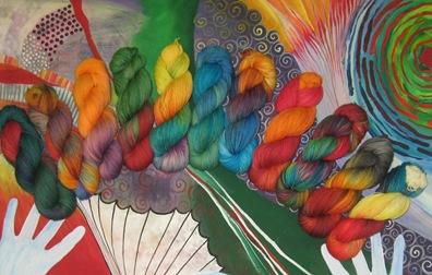 Januar-Färbung Sockenwolle 1