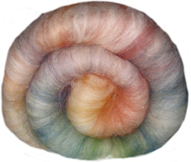 Weißer Regenbogen BFL   Wensleydale handgefärbt