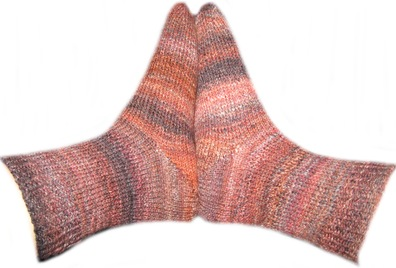 Färbe-Spinn-Stricksocken 1