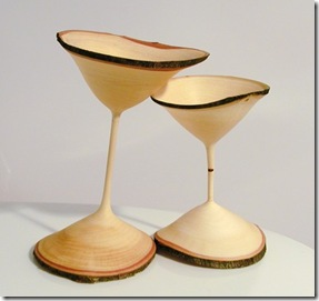 A Couple of Quirky Maple Goblets