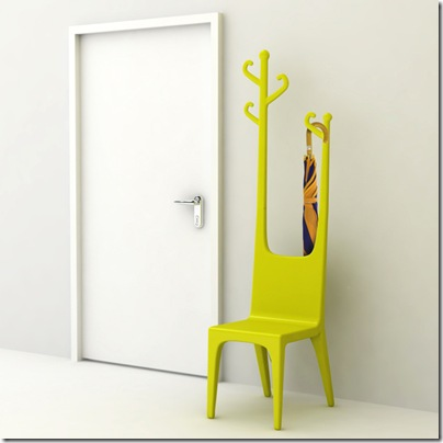 Reindeer coat hanger and chair