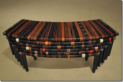 bench made of 1000 belts07