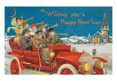 happy-new-year-revelers-in-old-car