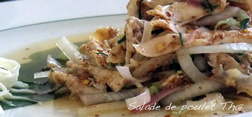 Salade de poulet à la Thaï