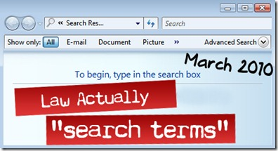 law actually search terms march