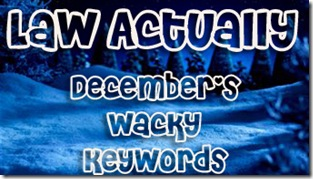 december's wacky keywords