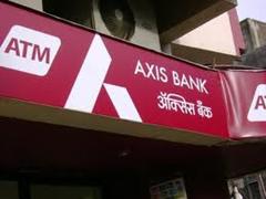 Axis Bank atm center in Kolkata.