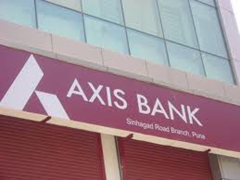 Axis Bank ATM center in Jaipur.